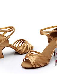Dansesko(Sort Brun Sølv Guld Leopard Øvrigt) -Kan tilpasses-Personligt tilpassede hæle-Damer-Latin Ballet