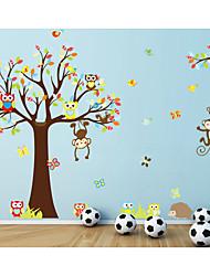 abordables -Animaux Romance Mode Stickers muraux Autocollants avion Autocollants muraux décoratifs, Papier Décoration d'intérieur Calque Mural Mur