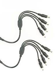Недорогие -cctv dc splitter 1 female to 4 male 5.5mm x 2.1mm smd 5050 3528 2835 5630 Разъем для светодиодной колонки y сплиттер cctv dc блок питания - 2pack