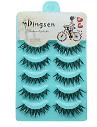 cheap -Eyelashes Full Strip Lashes Eyes Crisscross Volumized Curly Handmade Fiber Black Band