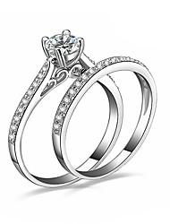 Alliances Mariage Soirée Occasion spéciale Quotidien Décontracté Bijoux Cristal Alliage ZirconCouple de Bagues Bagues pour Première