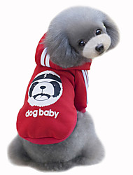 Dog Coat Hoodie Dog Clothes Cute Fashion Sports Bear Gray Yellow Rose Red Light Blue Costume For Pets