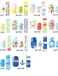 economico -1 Adesivi per manicure Decalcomanie trasferimento di acqua Cosmetici e trucchi Fantasie design per manicure