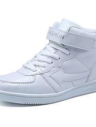 abordables -Fille Chaussures Polyuréthane Printemps Confort Basket Marche Lacet pour Décontracté Blanc / Noir / Bleu royal