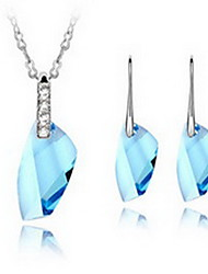 cheap -Women's Crystal Jewelry Set - Include Blue / Light Blue / Lavender For Party