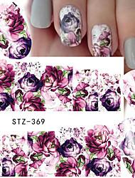 1 Adesivos para Manicure Artística Decalques de transferência de água maquiagem Cosméticos Designs para Manicure