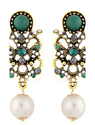 cheap -Women's Drop Earrings Fashion European Synthetic Gemstones Pearl Resin Alloy Jewelry For Party