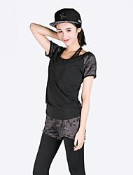Per donna T-shirt e pantaloni da corsa Manica corta Asciugatura rapida Traspirante Reggiseni sportivi Set di vestiti Top per Yoga
