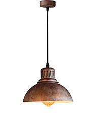 Max 60W Retro Industrial Simple Loft Pendant Lights Metal Dining Room Kitchen Bar Cafe Hallway Light Fixture