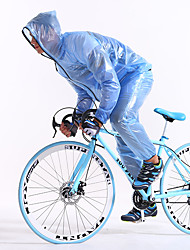 cheap -FJQXZ Unisex Long Sleeves Bike Raincoat Waterproof Quick Dry Windproof Rain-Proof Waterproof Zipper Front Zipper Dust Proof Antistatic