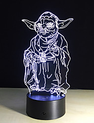 3D Bulbing Light 7 Color Changing Toys Millennium Falcon Darth Vader Bb8 Droid Robot Master Yoda Led Lamp Lighting
