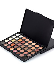 40 Color Eyeshadow Palette Dry Eyeshadow palette Pressed powder Normal Daily Makeup Brush