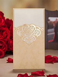 abordables -Plis Roulés Invitations de mariage Cartes d'invitation Style artistique Le style rétro Style floral Papier durci