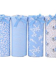 4 Pcs/Lot Women's Sexy Panties Cotton Spandex Seamless Striped Underwear Girls Cute Briefs