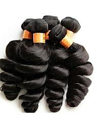 Недорогие -Натуральные волосы Пряди натуральных волос Реми Свободные волны Бразильские волосы 1000 g Более года