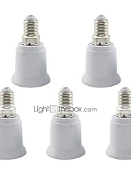 E14 to E27 Screw Adapter Converter Base Holder Socket for LED Light Lamp (5 Pieces)