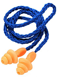 cheap -1Pcs Authentic Soft Silicone Corded Ear Plugs Noise Reduction Earplugs Protective Earmuffs