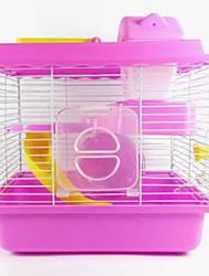 billige -Gnavere Hamster Plast Bur Kaffe Blå Lys pink