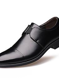 Homme Chaussures Cuir Printemps Eté Automne Hiver Bottes à la Mode Confort Oxfords Lacet Pour Décontracté Soirée & Evénement Noir Marron