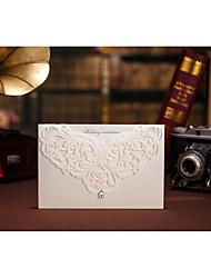 abordables -Pli Parallèle Horizontal Invitations de mariage Cartes d'invitation Cartes d'anniversaire Faire-Parts de Fiançailles ensembles de