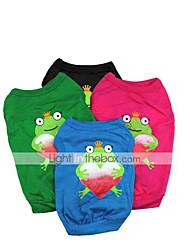 baratos -Gato Cachorro Camiseta Roupas para Cães Desenho Animado Preto Vermelho Verde Azul Algodão Ocasiões Especiais Para animais de estimação