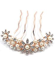 preiswerte -Imitation Perle Haar Kämme Kopfstück klassischen weiblichen Stil