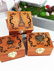 1 PC  A Wooden Music Box Retro Style Music Box Creative Gifts Friends Gifts Home Furnishing Decoration