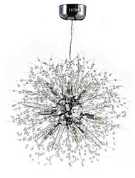 cheap -Chandelier ,  Globe Chrome Feature for Crystal Metal Living Room Dining Room Study Room/Office