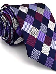 cheap -BXL2 Mens Necktie Tie Multicolor Checked 100% Silk Business Fashion For Men