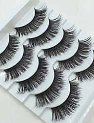 cheap -5 Eyelashes Full Strip Lashes Crisscross Eyes Full Strip Lashes Crisscross Lifted lashes Handmade Fiber Black Band