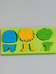 Cadeaux créatifs dessin animé série pastel décoration moules en silicone avec couleur aléatoire