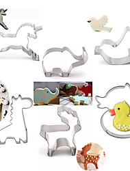 6pcs Creative Stainless Steel DIY Cake Biscuit Baking Mold Series Fondant Cookie Cutters Moulds Sugar Paste Cake