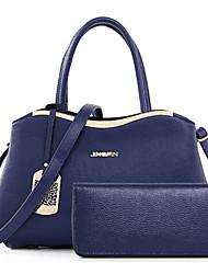 preiswerte -Damen Taschen PU Bag Set Blume(n) Reißverschluss für Formal Ganzjährig Blau Weiß Schwarz Rote