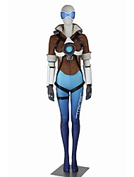 Inspired by Overwatch Serena Video Game Cosplay Costumes Cosplay Suits Cosplay Tops/Bottoms Color Block Short Sleeves Bandage Leotard