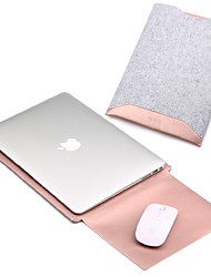 Sleeves for Macbook Pro 15-inch MacBook Air 13-inch Macbook Pro 13-inch Macbook Air 11-inch Macbook Solid Color PU Leather Material