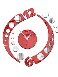 cheap -Acrylic 3D DIY Mirror Sticker Wall Clocks Novelty Home Decor  Vintage Watch Wall For Living Room