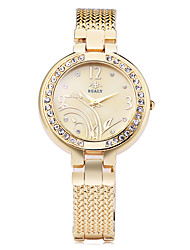 Women's Fashion Watch Bracelet Watch Simulated Diamond Watch Strap Watch Quartz Alloy Band Flower Elegant Silver Gold Rose Gold