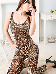cheap -SKLV Women's Polyester Ultra Sexy/Suits/Teddy Leopard Print Nightwear/Lingerie