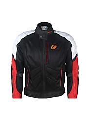 JK-39 Waterproof Motorcycle Jacket Oxford Cloth Durable Protective Motorsport Gear Black/Red/White Color