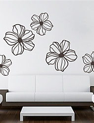 cheap -ZOOYOO® Lotus Flower Removable Wall Stickers Window Sticker Art Decals Mural DIY Wallpaper for Room Decal 42*42CM