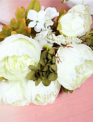 cheap -Artificial Flowers 1 Branch Simple Style Peonies Tabletop Flower
