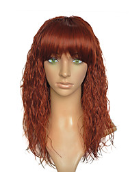 cheap -kinky curly wig synthetic fiber wig blonde red party cosplay costume women wig with cap