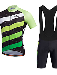cheap -Miloto Cycling Jersey with Bib Shorts Men's Short Sleeves Bike Bib Shorts Shorts Shirt Sweatshirt Jersey Bib Tights Top Quick Dry