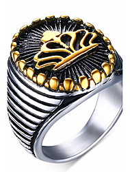 Homens Maxi anel Anel bijuterias Aço Inoxidável Jóias Para Festa Diário Casual