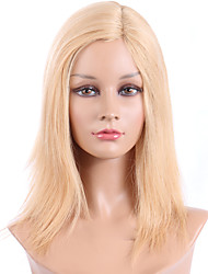 cheap -Human Hair Lace Wig Straight Lace Front Glueless Lace Front 100% Hand Tied African American Wig Natural Hairline 130% Density Strawberry