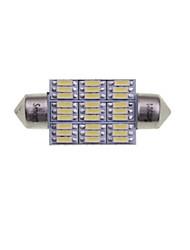 Недорогие -SENCART 2pcs 39mm / 41mm Автомобиль Лампы 4W SMD 3014 380-450lm 27 Внутреннее освещение