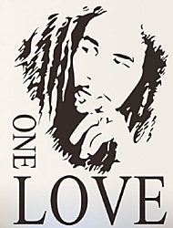 cheap -Bob Marley Famous Singer Wall Stickers One Love Quote Wall Decals For Kids