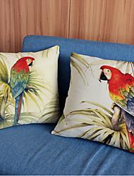 cheap -2 pcs Linen Pillow Case,Animal Print Modern/Contemporary