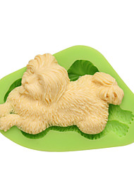 DIY Dog Shaped Mold Silicone Animal Mould For Cake Candy Pudding Ice Chocolate Cookie Color Random
