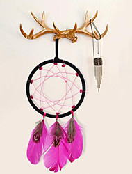 cheap -2PC Dream Catcher Decor Hanging With Feathers Hanging Decoration Dreamcatcher Net India Style Hourse Decoration  Luminous